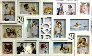 Мультирамка на 14 фото LOVE