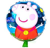 Фольгированный шар круглый Пеппа, 45 см