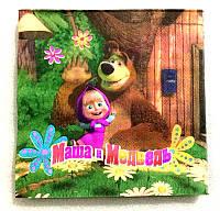 """Салфетки """"Маша и медведь"""" 33х33 см, двухслойные"""