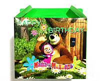 9008-11 Коробка подарочная Маша и Медведь