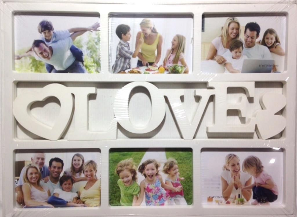 """Коллаж на 6 фото """"LOVE"""" (2306)"""