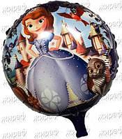Фольгированный шар круглый София, фиолетовая