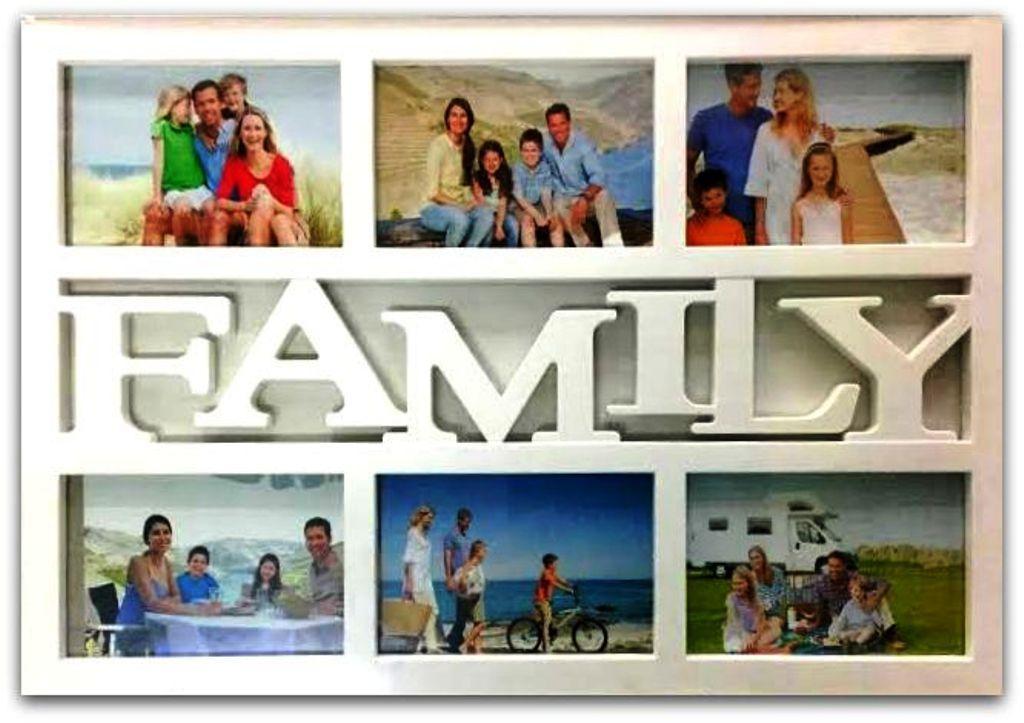 Фоторамка коллаж на 6 фото Family, (2306)