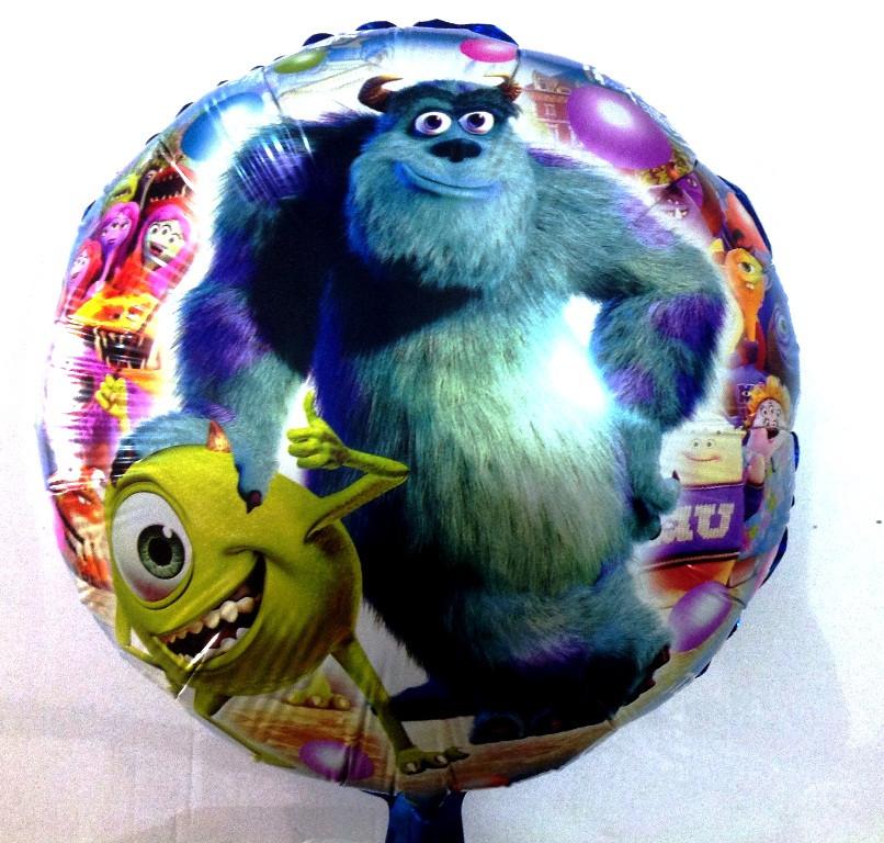 Фольгированный шар круглый Корпорация Монстров, (TF-E0089)