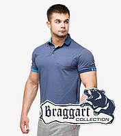 Молодежная мужская рубашка поло Braggart с коротким рукавом цвет джинс - XL, XXL