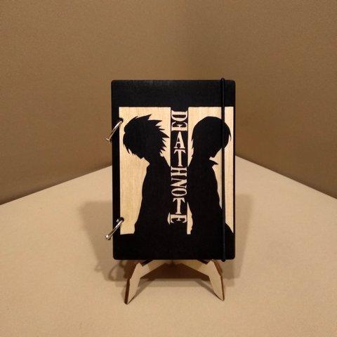 Скетчбук Death Note. Блокнот с деревянной обложкой Тетрадь смерти.