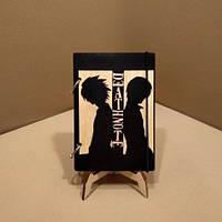 Скетчбук Death Note. Блокнот с деревянной обложкой Тетрадь смерти., фото 1