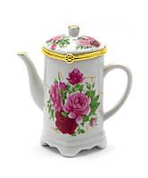 """Футляр для зубочисток """"Чайник"""" сердечко (9х8,5х5 см)(B665A)"""