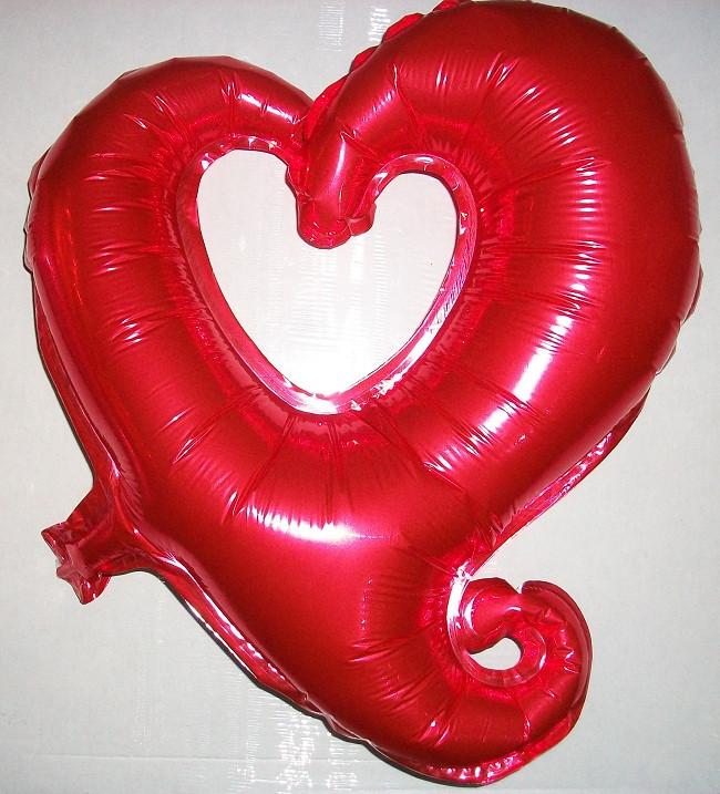 """Фольгированный шар в форме """"Сердце"""", красный"""