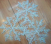 Белая снежинка 22 см