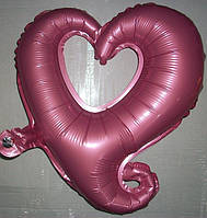 """Фольгированный шар в форме """"Сердце""""  – розовый"""