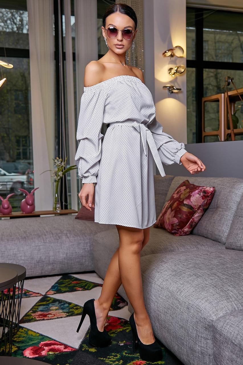 Платье прямого покроя белое 3470, фото 1