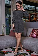 Черное платье прямого покроя 3464
