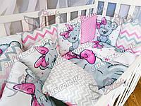 """Комплект постельного в детскую кроватку для новорожденных """"Panel Girl"""""""