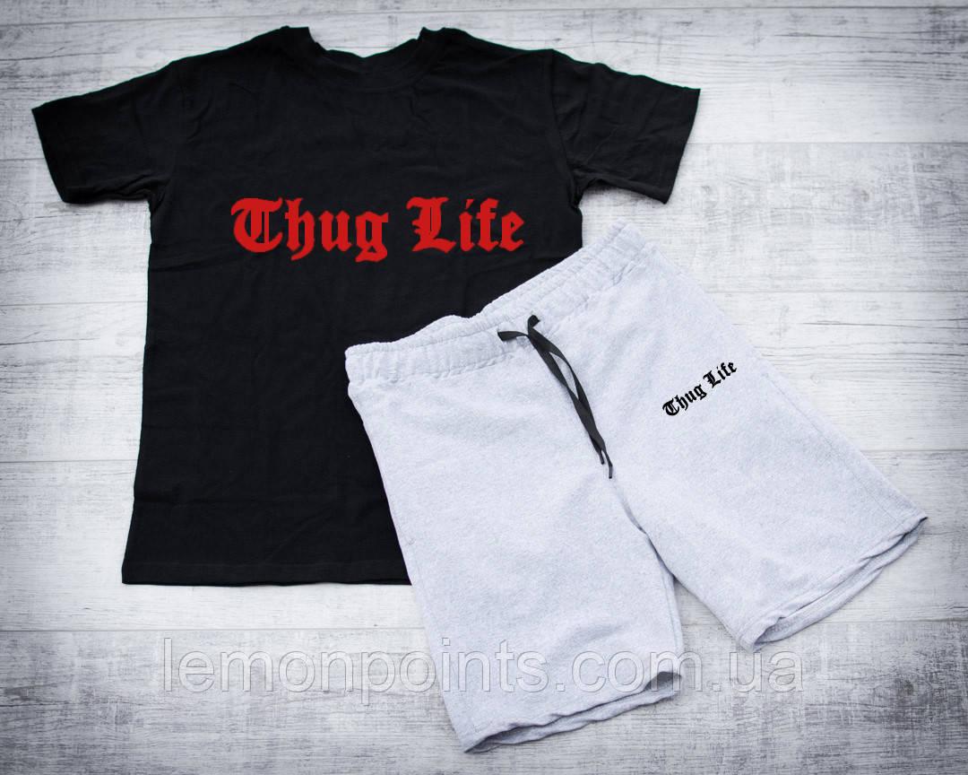 Мужской летний набор футболка+шорты Thug Life ST424, Реплика