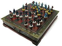 Шахматы антик (43,5х37,5х7,5 см) Америка