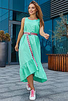 Модное молодежное платье мятного цвета 3563, фото 1