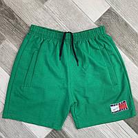 Шорты мужские хлопок Tommy Hilfiger, размеры 46-52, зелёные, 05615