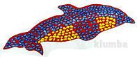 Коврик массажный ортопедический с цветными камнями Дельфин 100 х 40 см, фото 1