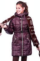 Зимняя куртка для девочки с шарфом , фото 1