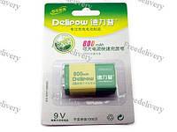 Аккумулятор Delipow 9В CR-9V Крона 6F22 6LR61 Li-ion 800мАч