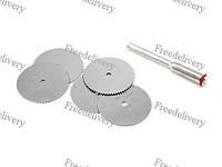 Набор из 5 отрезных кругов, дисковых пил 22 мм. для дремеля гравера