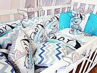 """Комплект постельного в детскую кроватку для новорожденных """"Panel Boy"""""""