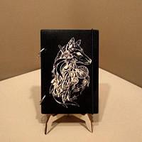 Скетчбук Волк. Блокнот с деревянной обложкой., фото 1