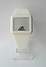 Мужские (Женские) кварцевые наручные часы Adidas на силиконовом ремешке, White