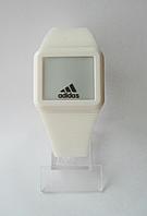 Мужские (Женские) кварцевые наручные часы Adidas на силиконовом ремешке, White, фото 1