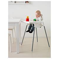 Стільчик для годування, стул для кормления ANTILOP IKEA, 290.672.93