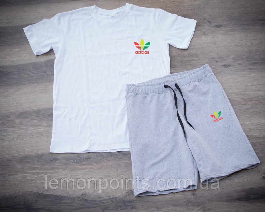 Мужской летний набор футболка+шорты Adidas ST435, Реплика
