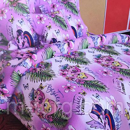 Комплект постельного белья полуторный 150/220 с детским рисунком,одна нав-ка 70/70,ткань поплин 100% хлопок   , фото 2