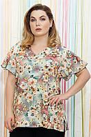 Блуза штапель цветная