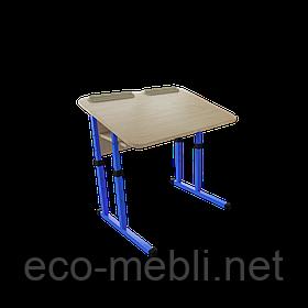 Одномісна антисколіозна, шкільна парта для навчальних закладів № 2 Метал Дизайн