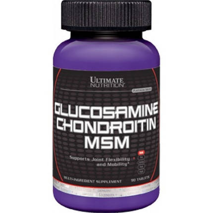 Glucosamine Chondroitine MSM Ultimate Nutrition 90 таб, фото 2