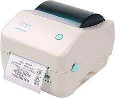 Термопринтер этикеток Xprinter XP-450B наклеек Новой почты штрих-кода 108 + подставка в подарок