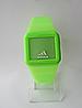 Мужские (Женские) кварцевые наручные часы Adidas на силиконовом ремешке, Green