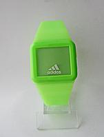 Мужские (Женские) кварцевые наручные часы Adidas на силиконовом ремешке, Green, фото 1