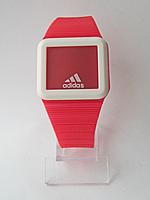 Мужские (Женские) кварцевые наручные часы Adidas на силиконовом ремешке, Red