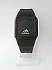Мужские (Женские) кварцевые наручные часы Adidas на силиконовом ремешке, Black