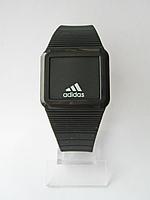Мужские (Женские) кварцевые наручные часы Adidas на силиконовом ремешке, Black, фото 1