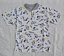 Летняя детская пижама для мальчиков серая р.110-116 см (OZTAS, Турция), фото 2