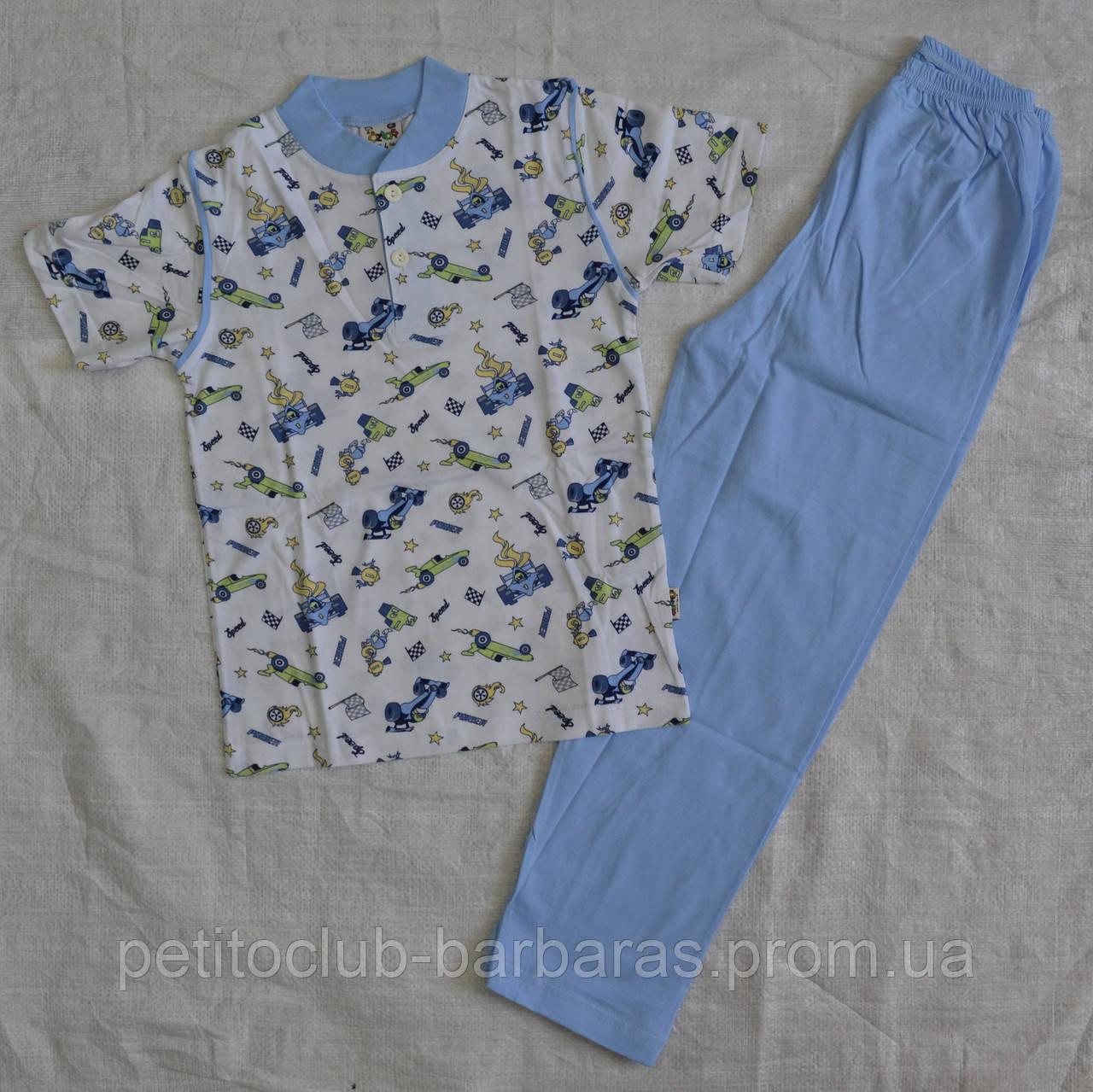 Летняя детская пижама для мальчиков голубая р. 122-128 см (OZTAS, Турция)