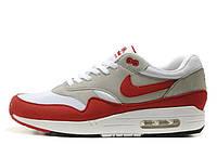 Мужские кроссовки Nike Air Max 87 White Grey Red размер 42 (Ua_Drop_115601-42)