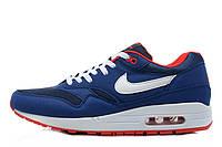 Мужские кроссовки Nike Air Max 87 Blue Navi Red White размер 42 (Ua_Drop_110871-42)