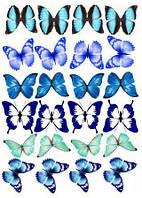 """Харчовий цукровий / вафельний істівний друк _ лист А4 """"Метелики"""""""