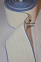 Канва лента для вышивки Vaupel & Heilenbeck (Германия), ширина 6 см (белая с синим кантом)