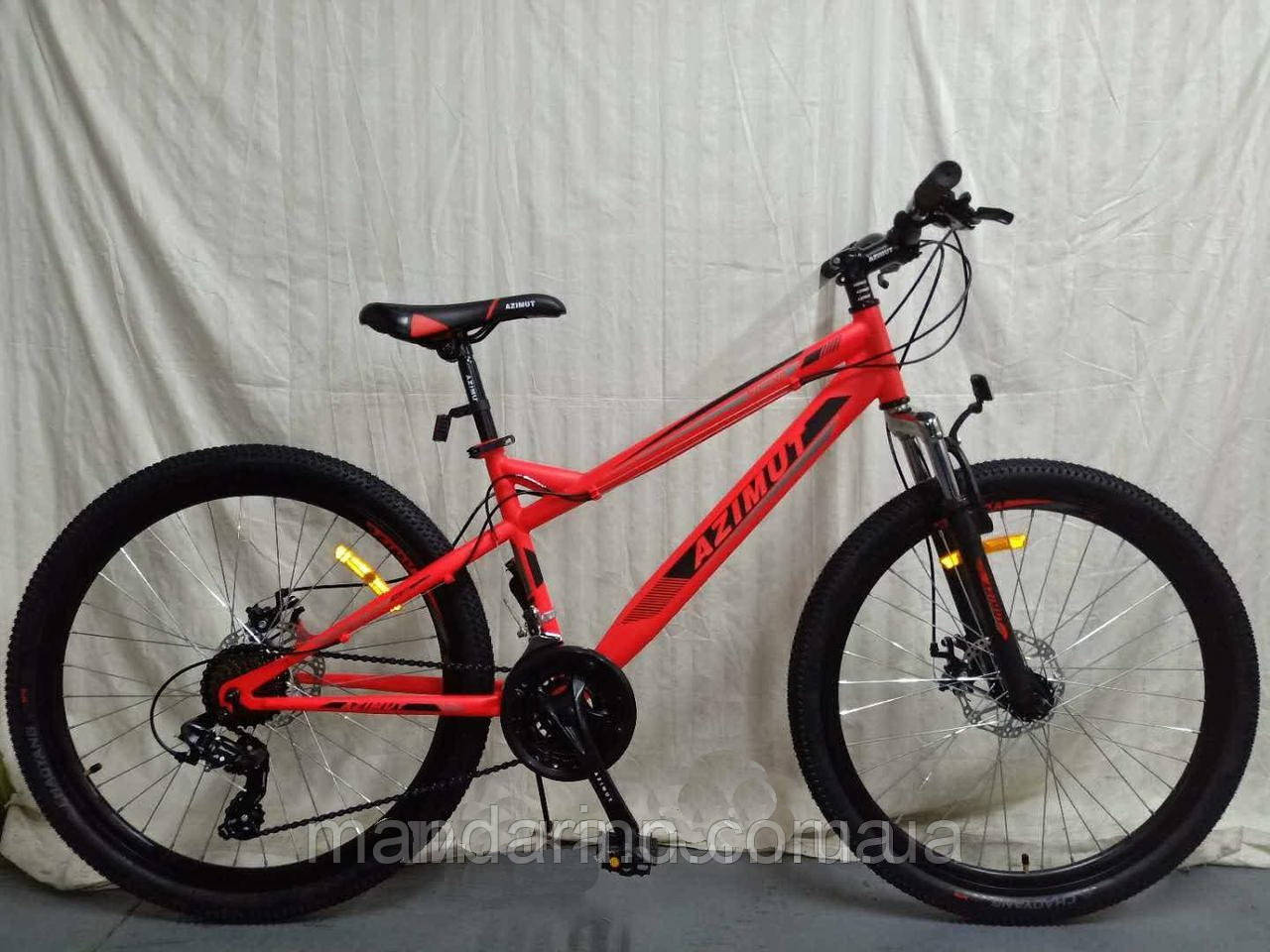 """Горный велосипед Azimut Hiland 26"""". Дисковые тормоза. Красный"""