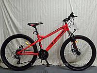 """Горный велосипед Azimut Hiland 26"""". Дисковые тормоза. Красный, фото 1"""
